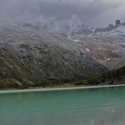 Laguna Esmeralda com neve!