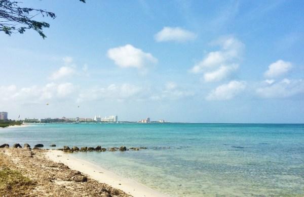 Dá para ver o ponto da ilha onde fica a rede hoteleira .