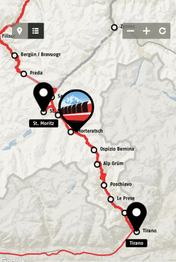 trem pelos alpes suiços