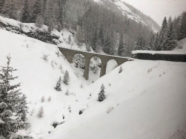 Bernina Express panorâmica St. Moritz