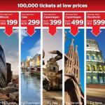 Sterling: 100.000 tickets para vôos no outono/inverno
