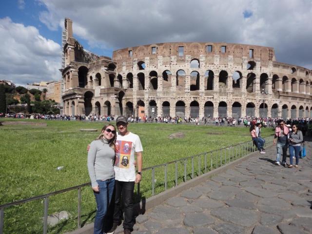 A primeira viagem à Europa Colosseo