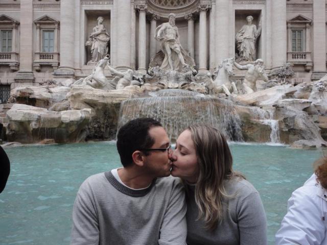 A primeira viagem à Europa Fontana di Trevi