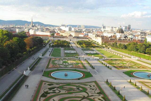 Dica de passeio em Viena_jardins_Viajando bem e barato
