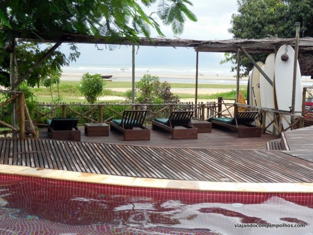 Vila Kalango Piscina de frente para a praia
