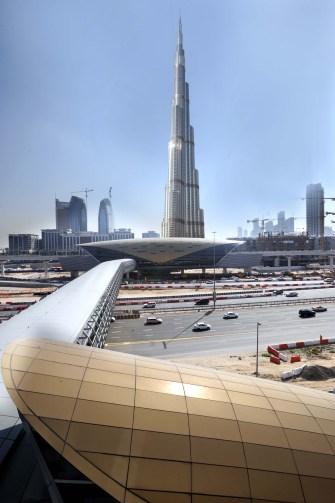 Dubai Mall-Burj Khalifa metro station