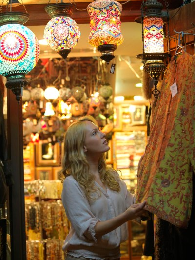Tourist in Textiles Souq