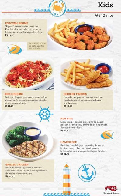 menu kids Red Lobster