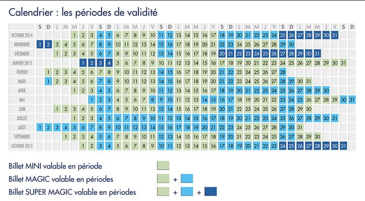 Calendário ingressos Disneyland Paris