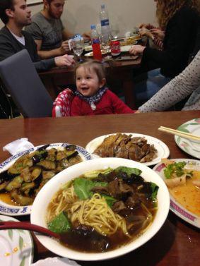 Comida en un chino de la Calle Pelayo