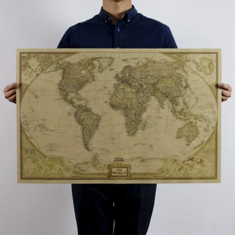 mapamundi vintage