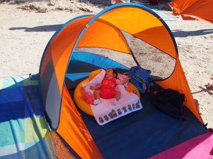 Paravientos playa bebé