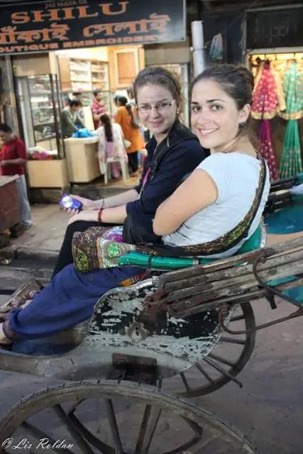 Human Rickshaw, Calcuta, India