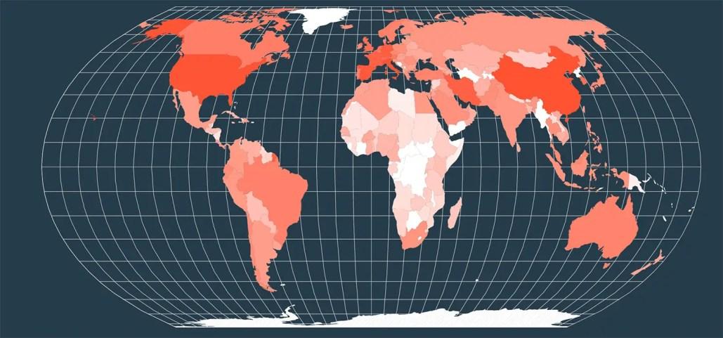 Mapa Interactivo de países con restricciones al viajar