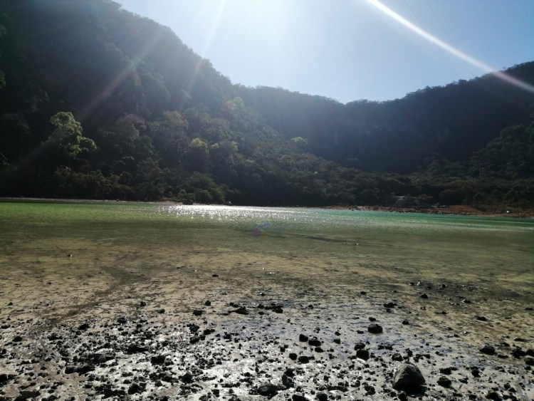 Aumento del agua en la laguna de alegria