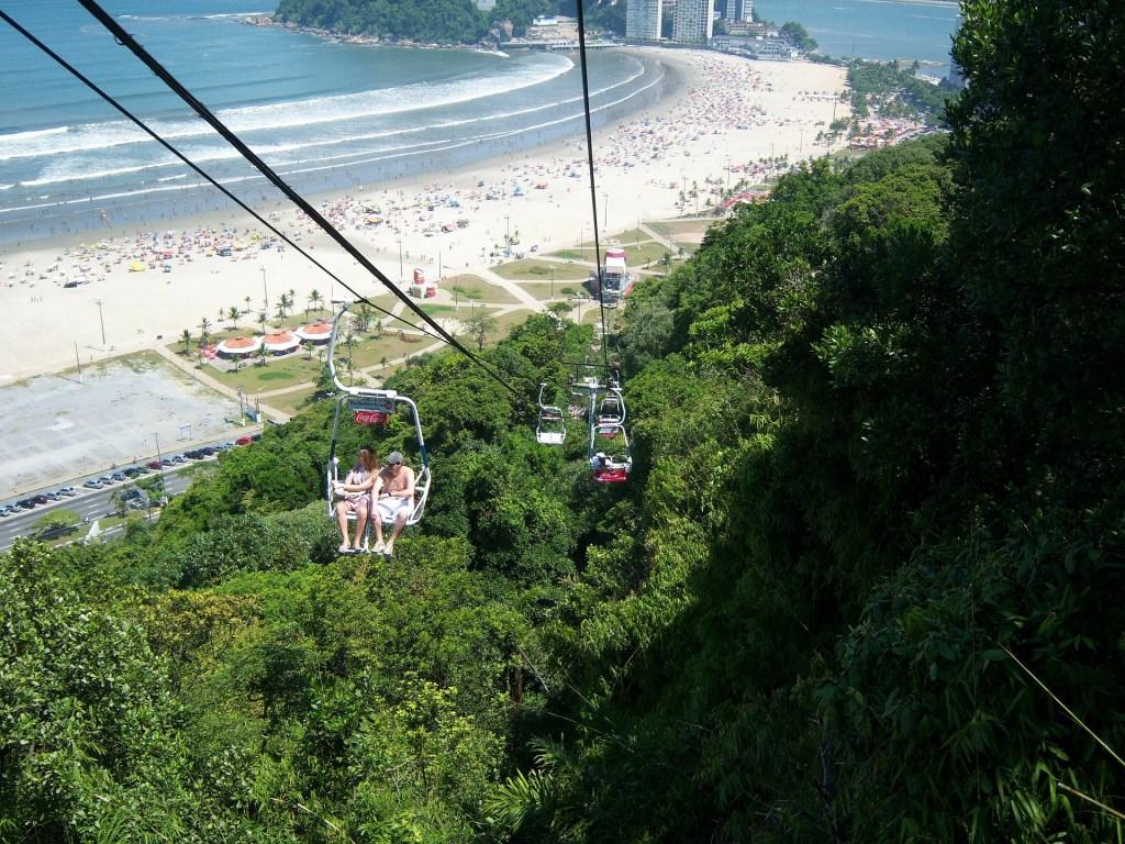 Teleférico de São Vicente, playas cerca de São Paulo