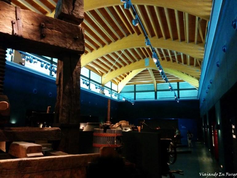 Sala de Museo del Vino en Vivanco