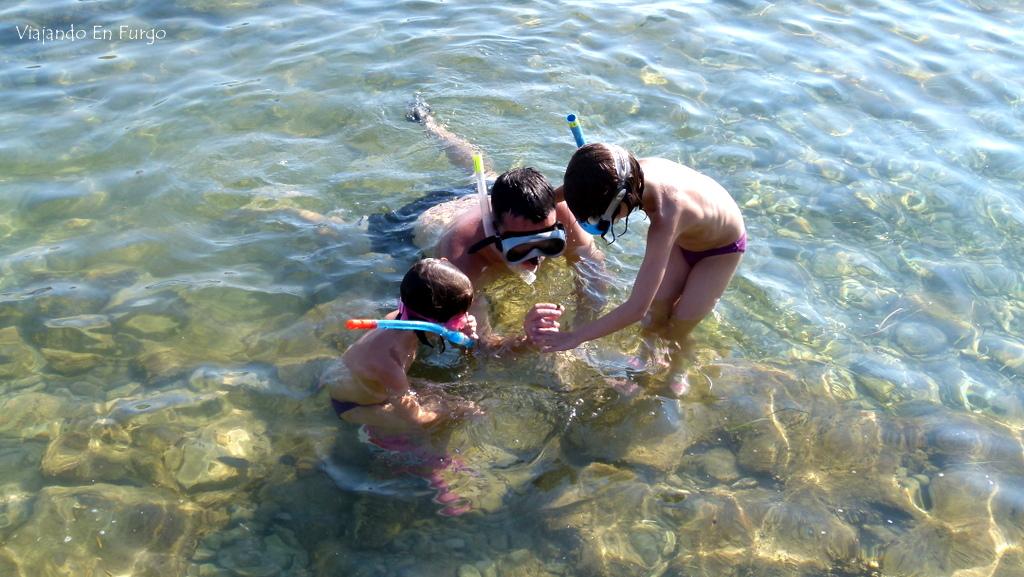 Snorkel en Croacia en furgo