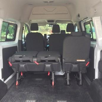 interior de la furgoneta tal como la compramos