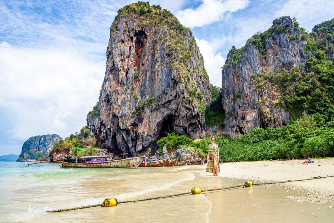 Uma das praias mais lindas da Tailândia: Phra Nang Beach