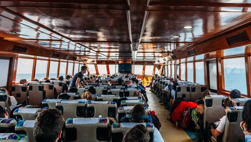 Dentro do ferry