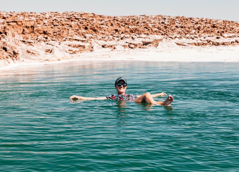 Lagunas Escondidas de Baltinache | A alta concentração de sal da água não permite que a gente afunde