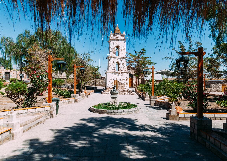 Lagunas Altiplânicas - Praça do povoado Toconao