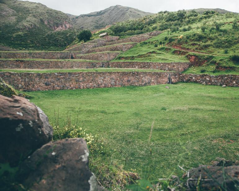 Terraços utilizados pelos incas para cultivo