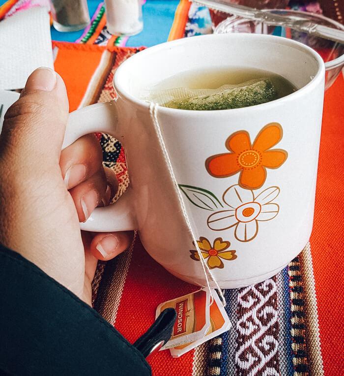 La Paz: chá de folhas de coca