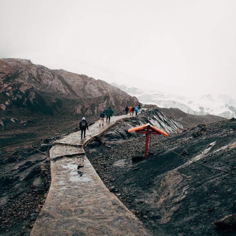 Trilha para o Glaciar Pastoruri