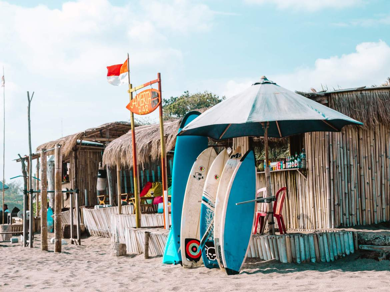 Pranchas para alugar em Berawa Beach, Canggu