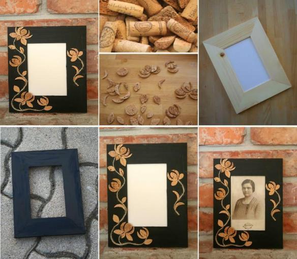 customizar quadros_molduras_rolhas