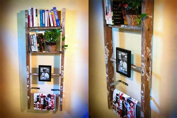 escada estante para livros