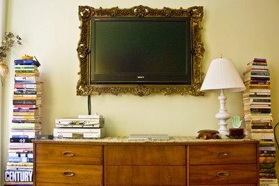 emoldurando a tv