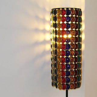 abajur luminaria capsulas de cafe
