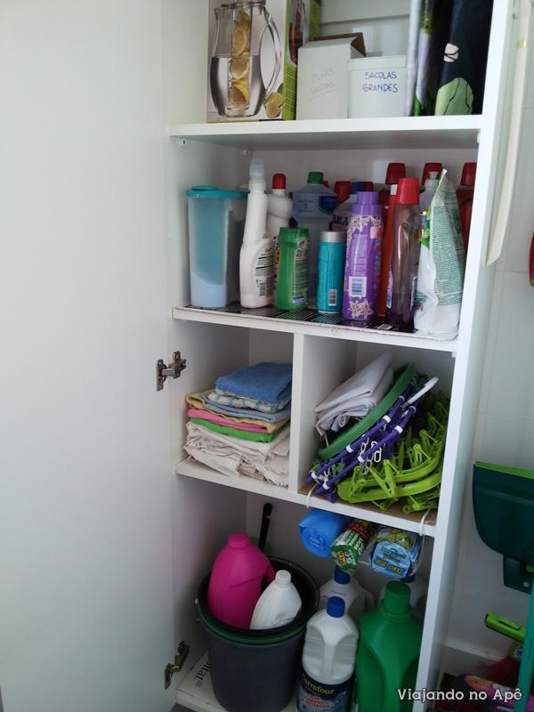 Aparador Branco Lacado ~ armario planejado lavanderia area de serviço Viajando no
