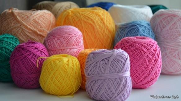 linhas de croche decoraçao artesanato