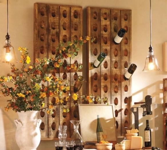 porta vinhos suporte madeira parede