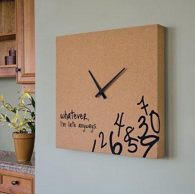 065ab45e6d1 Faça você mesmo  relógios de parede! - Viajando no ApêViajando no Apê