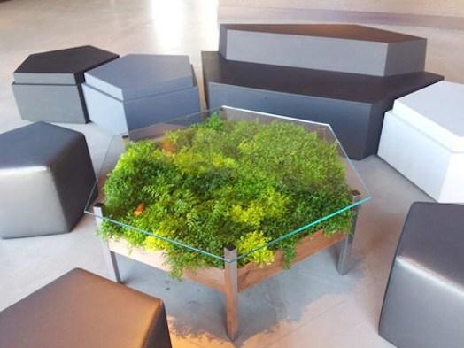 mesa nicho plantas decoracao verde
