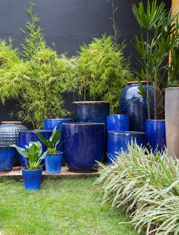 vasos chao composiçao decoracao jardim