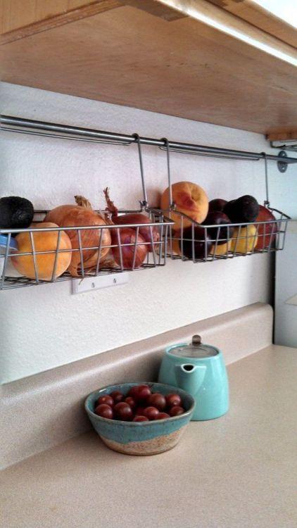 cestos vegetais frutas cozinha