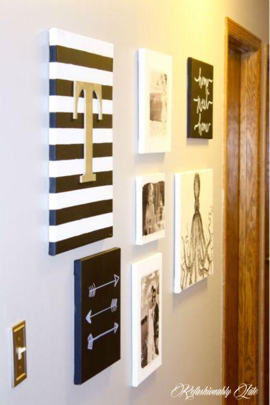 arte na parede telas diy