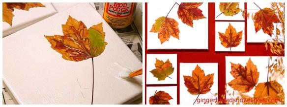 arte tela de pintura com folhas de arvores