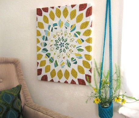 arte tela tecido diy