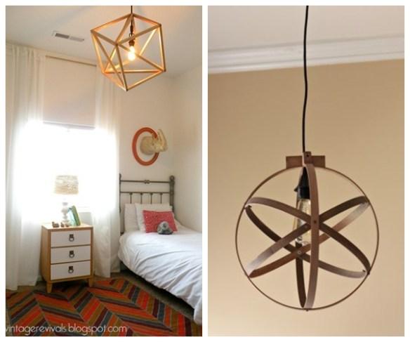 Luminaria pendente lustre geometrico faca voce mesmo diy luminaria madeira