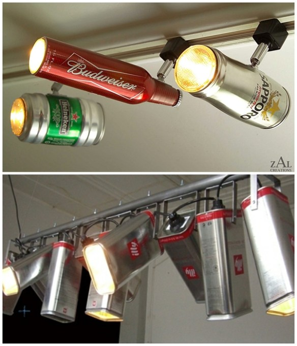 luminaria latas diy faça voce mesmo ideias criativas luminaria teto