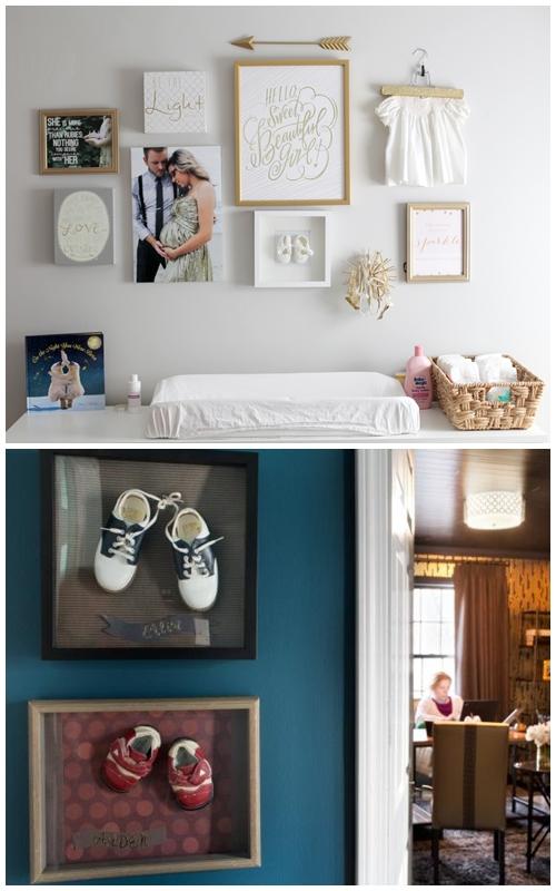 lembrancas-filhos-parede-decoracao-sapatinhos-roupinha-vestidinho-quadros-molduras