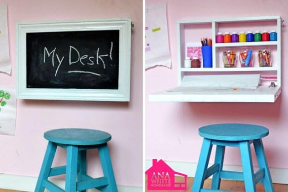 armario mesa parede criancas