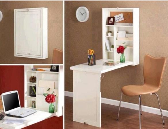 armario se transforma em mesa ideias pequenos espacos mesa dobravel